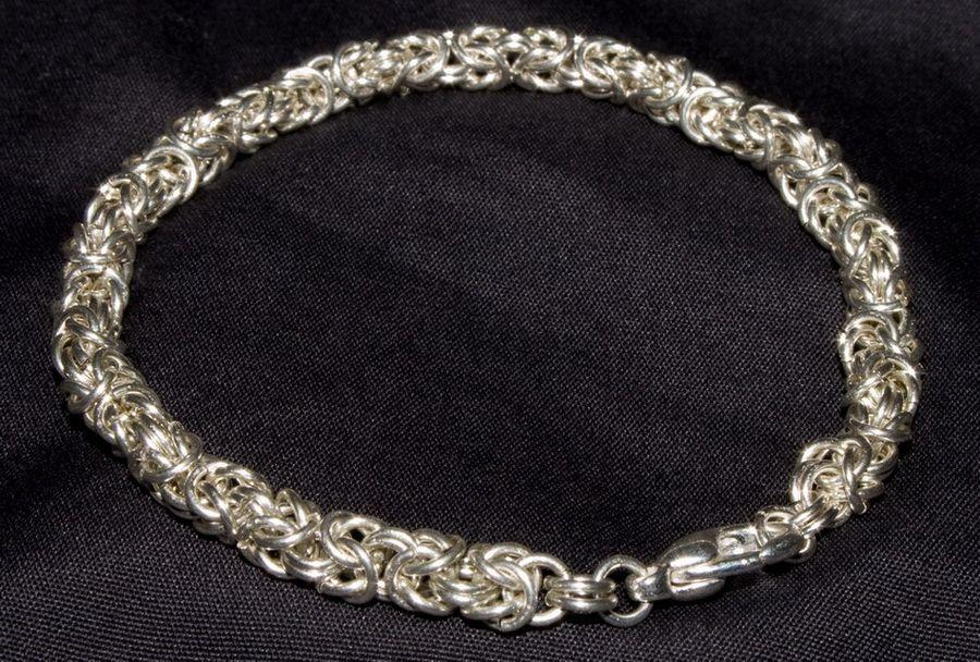 Серебряная цепь плетение мужская
