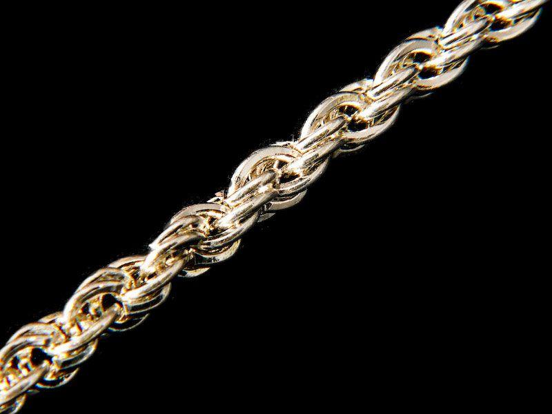 цепи и браслеты из белого золота