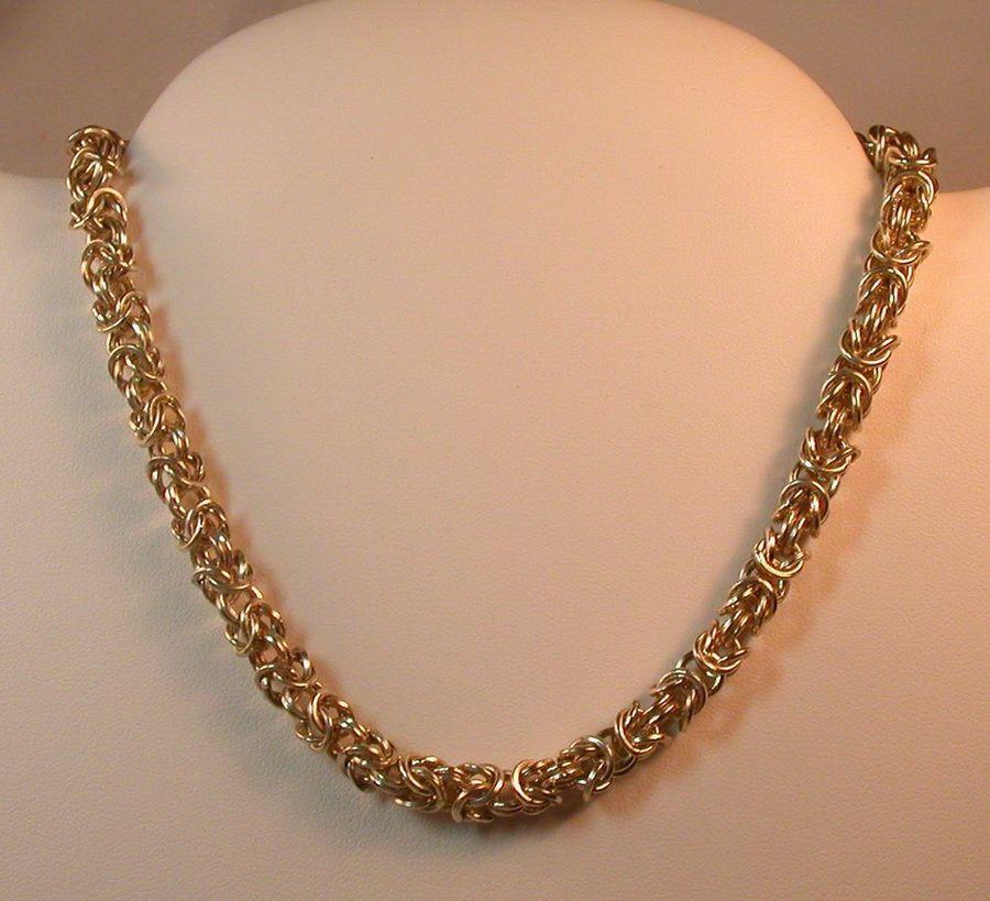 золото цепочка плетение бисмарк