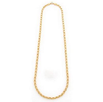 Золотая цепь мужская якорное плетение